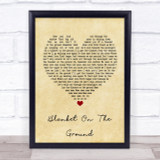 Billie Jo Spears Blanket On The Ground Vintage Heart Quote Song Lyric Print