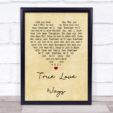 Buddy Holly True Love Ways Vintage Heart Quote Song Lyric Print