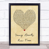 Candi Staton Young Hearts Run Free Vintage Heart Quote Song Lyric Print