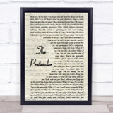 Foo Fighters The Pretender Song Lyric Vintage Script Quote Print