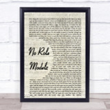 J Cole No Role Modelz Song Lyric Vintage Script Quote Print