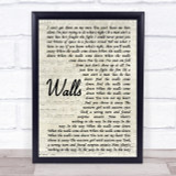 Kings Of Leon Walls Song Lyric Vintage Script Quote Print