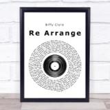Biffy Clyro Re Arrange Vinyl Record Song Lyric Quote Print