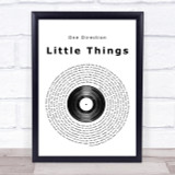 One Direction Little Things Vinyl Record Song Lyric Quote Print