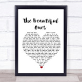 Prince And The Revolution The Beautiful Ones Heart Song Lyric Quote Print