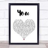 Ten Sharp You Heart Song Lyric Quote Print