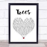 Twenty One Pilots Trees Heart Song Lyric Quote Print