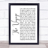 Christy Moore The Voyage White Script Song Lyric Quote Print