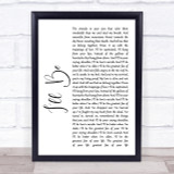 Edwin McCain I'll Be White Script Song Lyric Quote Print