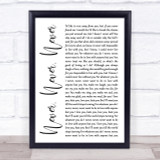Shirley Bassey Never, Never, Never White Script Song Lyric Quote Print