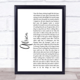 Toto Africa White Script Song Lyric Quote Print