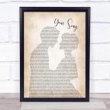 Elton John Your Song Man Lady Bride Groom Wedding Music Gift Poster Print