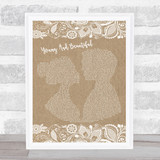 Lana Del Rey Young And Beautiful Burlap & Lace Music Gift Poster Print