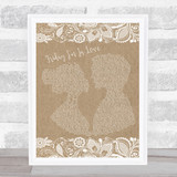 The Cure Friday I'm In Love Burlap & Lace Music Gift Poster Print