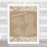 The Killers Glamorous Indie Rock & Roll Burlap & Lace Music Gift Poster Print