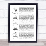 Eagles Take It To The Limit White Script Music Gift Poster Print