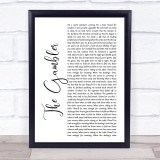 Kenny Rogers The Gambler White Script Music Gift Poster Print