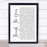 Kenny Rogers Through The Years White Script Music Gift Poster Print