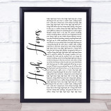 Panic! At The Disco High Hopes White Script Music Gift Poster Print