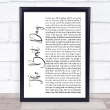 Taylor Swift The Best Day White Script Music Gift Poster Print