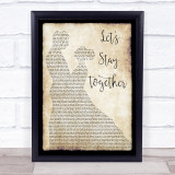 Al Green Let's Stay Together Man Lady Dancing Music Gift Poster Print