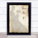 Frank Turner There She Is Man Lady Dancing Music Gift Poster Print