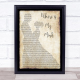 Pixies Where is My Mind Man Lady Dancing Music Gift Poster Print