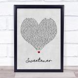 Ariana Grande Sweetener Grey Heart Music Gift Poster Print