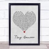 Elton John Tiny Dancer Grey Heart Music Gift Poster Print