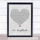 The Killers Mr Brightside Grey Heart Music Gift Poster Print