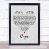 The Kinks Days Grey Heart Music Gift Poster Print