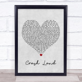 Twin Atlantic Crash Land Grey Heart Music Gift Poster Print
