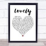 Billie Eilish and Khalid Lovely White Heart Music Gift Poster Print