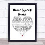 Motley Crue Home Sweet Home White Heart Music Gift Poster Print