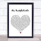 The Killers Mr Brightside White Heart Music Gift Poster Print