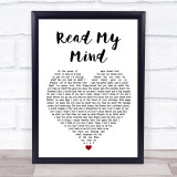 The Killers Read My Mind White Heart Music Gift Poster Print