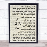 Johnny Cash I Walk The Line Vintage Script Music Gift Poster Print