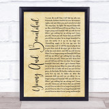 Lana Del Rey Young And Beautiful Rustic Script Music Gift Poster Print