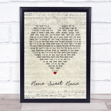 Motley Crue Home Sweet Home Script Heart Music Gift Poster Print