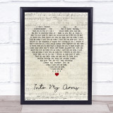 Nick Cave & The Bad Seeds Into My Arms Script Heart Music Gift Poster Print