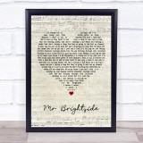 The Killers Mr Brightside Script Heart Music Gift Poster Print