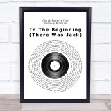 Chuck Roberts feat Monique Bingham In The Beginning (There Was Jack) Vinyl Record Music Gift Poster Print