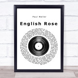 Paul Weller English Rose Vinyl Record Music Gift Poster Print
