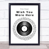 Pink Floyd Wish You Were Here Vinyl Record Music Gift Poster Print