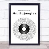 Sammy Davis Jr Mr. Bojangles Vinyl Record Music Gift Poster Print