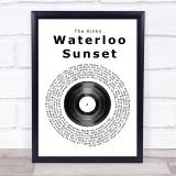 The Kinks Waterloo Sunset Vinyl Record Music Gift Poster Print