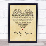 Ben Howard Only Love Vintage Heart Music Gift Poster Print