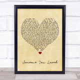 Lewis Capaldi Someone You Loved Vintage Heart Music Gift Poster Print