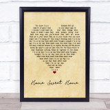 Motley Crue Home Sweet Home Vintage Heart Music Gift Poster Print
