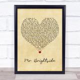 The Killers Mr Brightside Vintage Heart Music Gift Poster Print